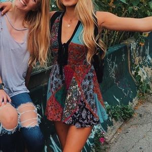Multi patterned romper